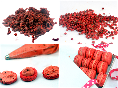 Hot Pink Macarons with Goji Berry Filling for Breast Cancer Awareness.