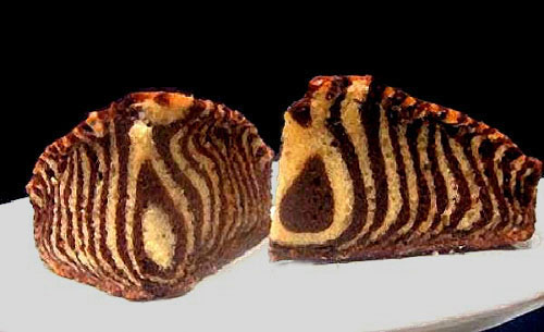 Learn how to make this super moist, delicious Greek Yogurt Zebra Cake