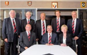 Margaret pictured with her fellow DAFC Board members