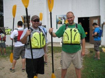 Chris & Bryan: Ready for Kayaking Action