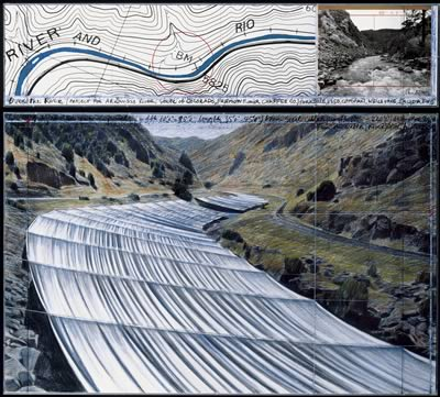 Christo's new art project, Over the River, concept sketch