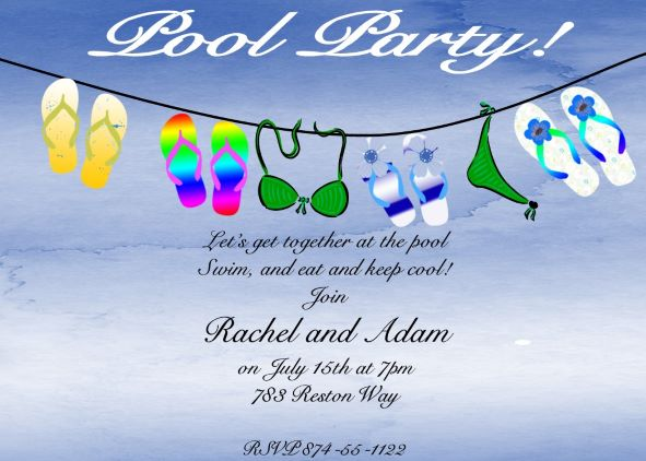 Fullsize Of Pool Party Invitations