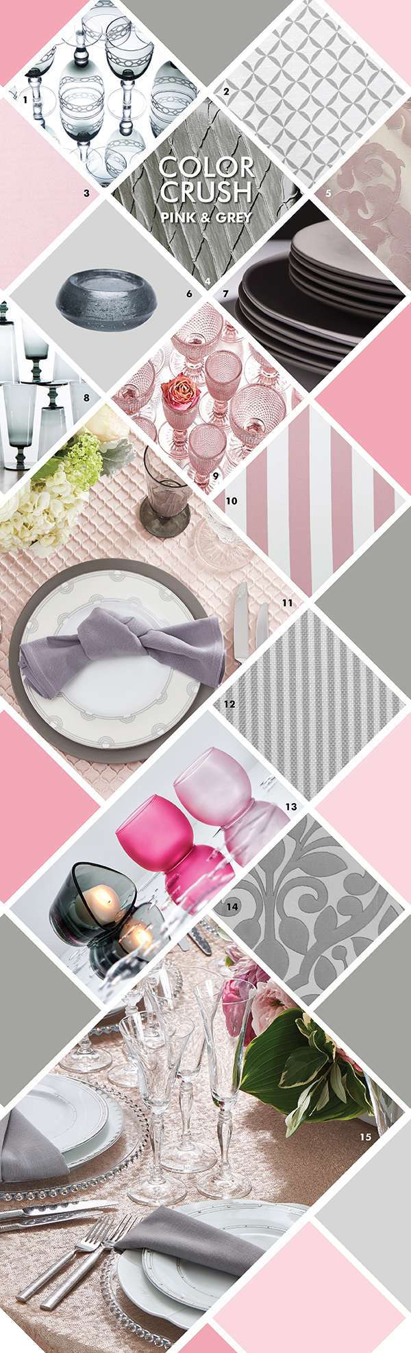 Party Rental Ltd. - Color Crush Pink & Grey