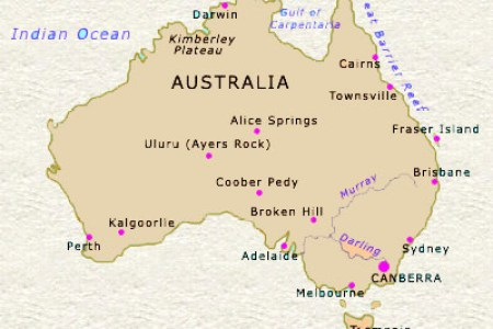 map of australia major cities