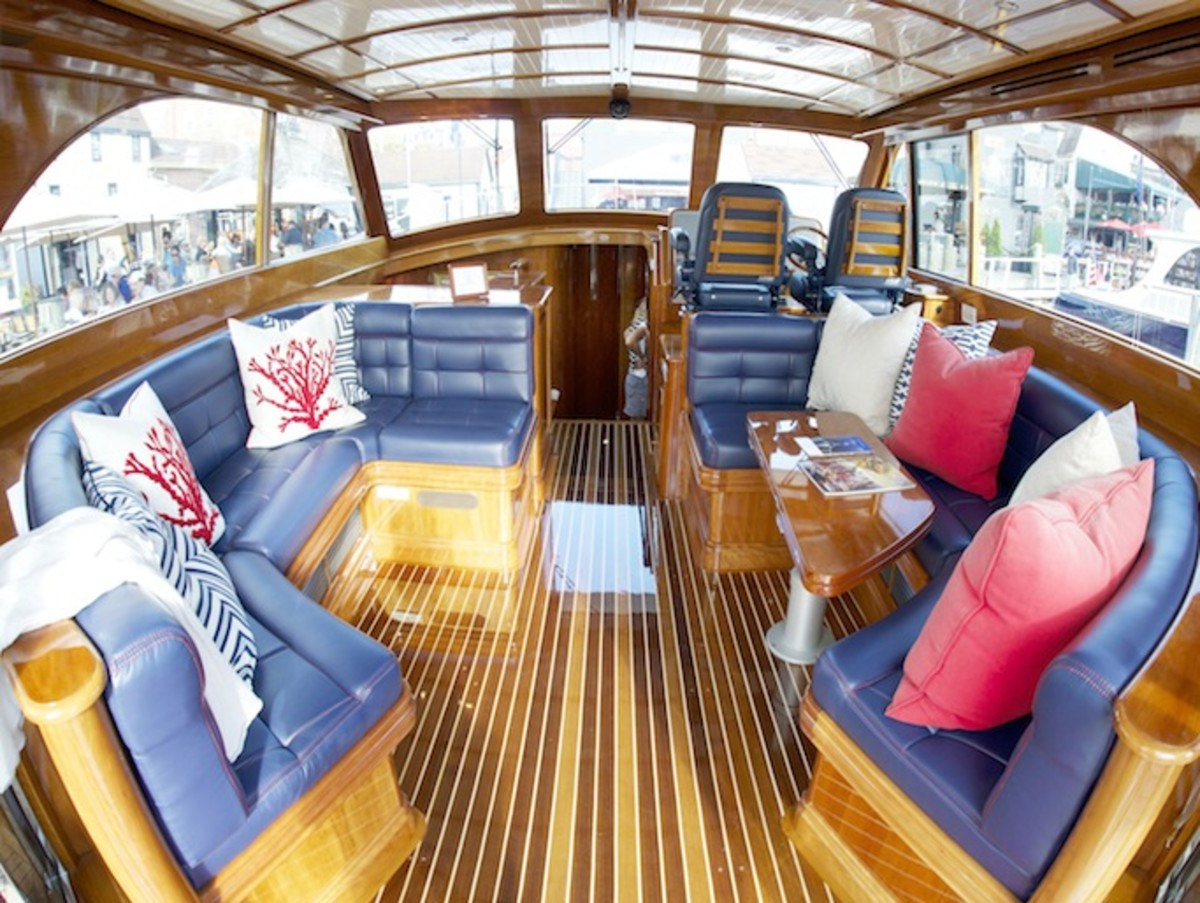 Upgrading Boat Upholstery  A Modest Makeover   PassageMaker The interior of this Hinckley Tallaria is elevated by fresh upholstery