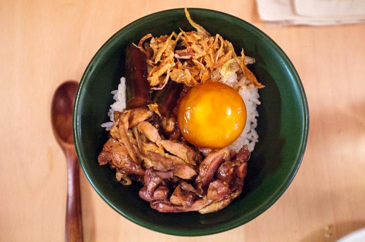 Passagem Gastronômica - Arroz de Galinha D'angola com Ovo e Cogumelos - Restaurante BAO - Londres