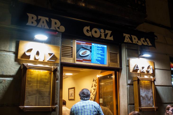 Passagem Gastronômica - Goiz Argi - Pintxos Bar em San Sebastian