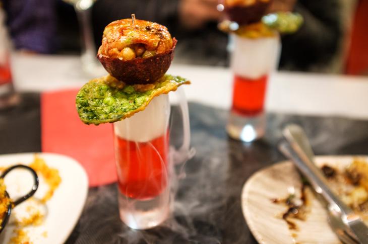 Passagem Gastronômica - Zeruko - Rosa de Morango com Lagosta - Pintxos Bar em San Sebastian