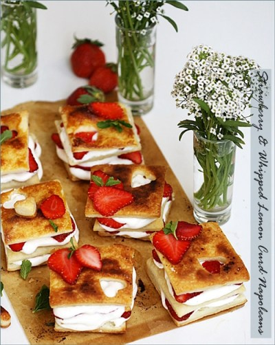 Strawberry & Whipped Lemon Curd Napoleans