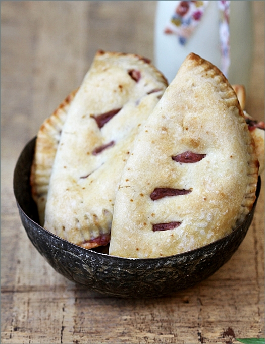 Apple Strawberry Basil Hand Pies