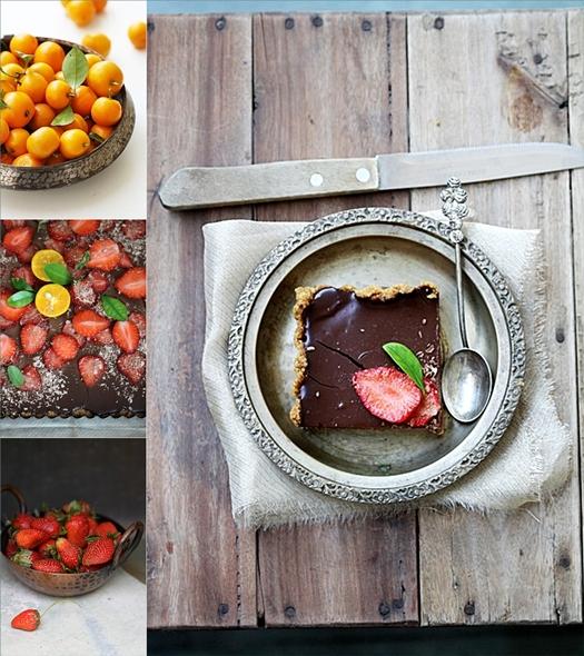 Eggless Strawberry Orange Cake