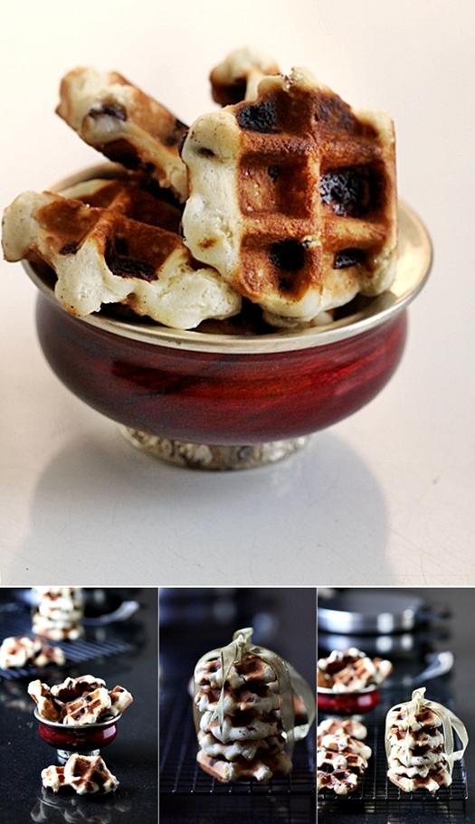 Vanilla Bean Chocolate Chip Wookies or Waffle Cookies
