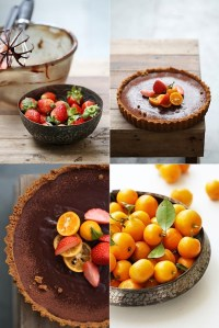 Eggless Chocolate Orange Tart