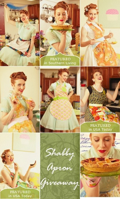 shabby apron giveaway