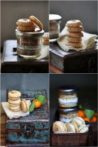 Blood Orange Macarons with Maple Orange Pastry Creme