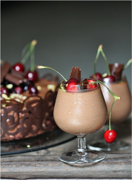 Dark Chocolate Mousse.