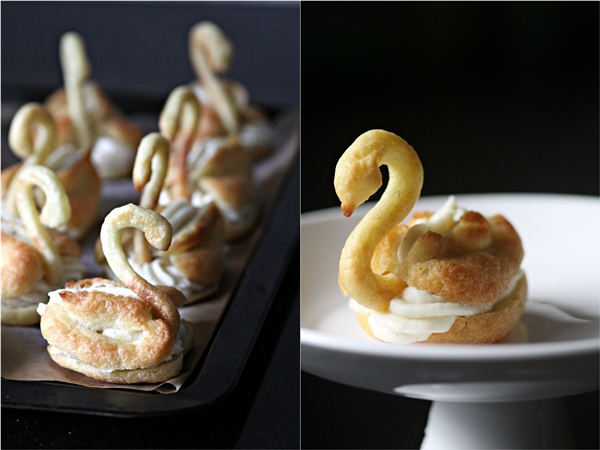 Filled Pate a Choux Swans