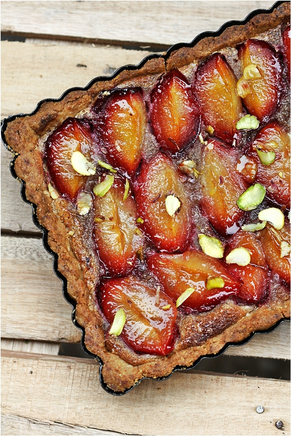 Plum Tart with Walnut Frangipane