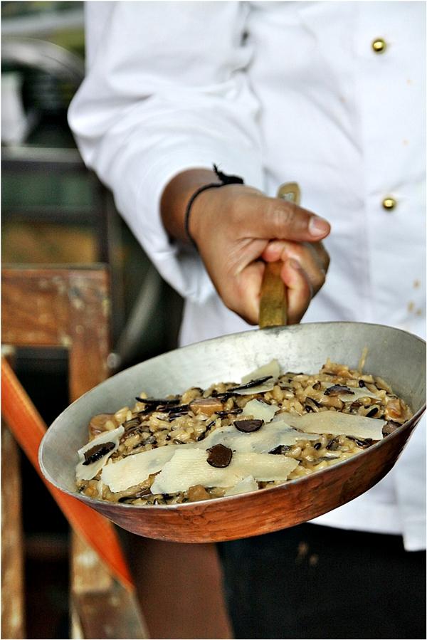Black truffle porcini risotto