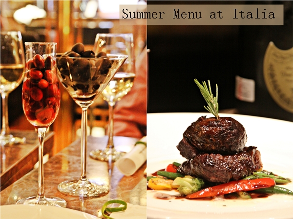 Summer Menu at Italia