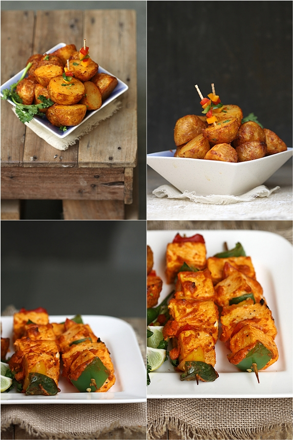 Philips Airfryer New Baby Potatoes & Paneer Tikka