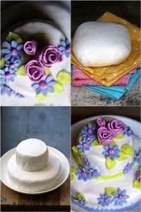 Tea Rose Fondant Cake 2