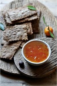 Rye Cheddar Crackers 6