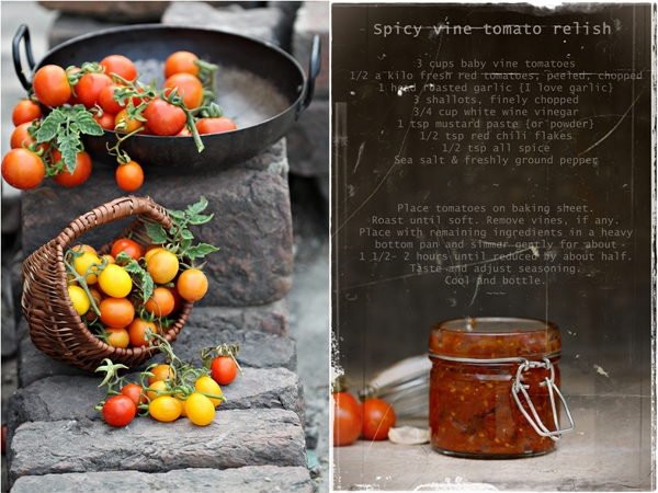 Baking | Spicy Vine Tomato Relish … jars of goodness in season