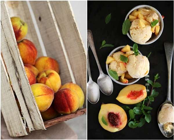 Peach Mango Low Fat Ice Cream