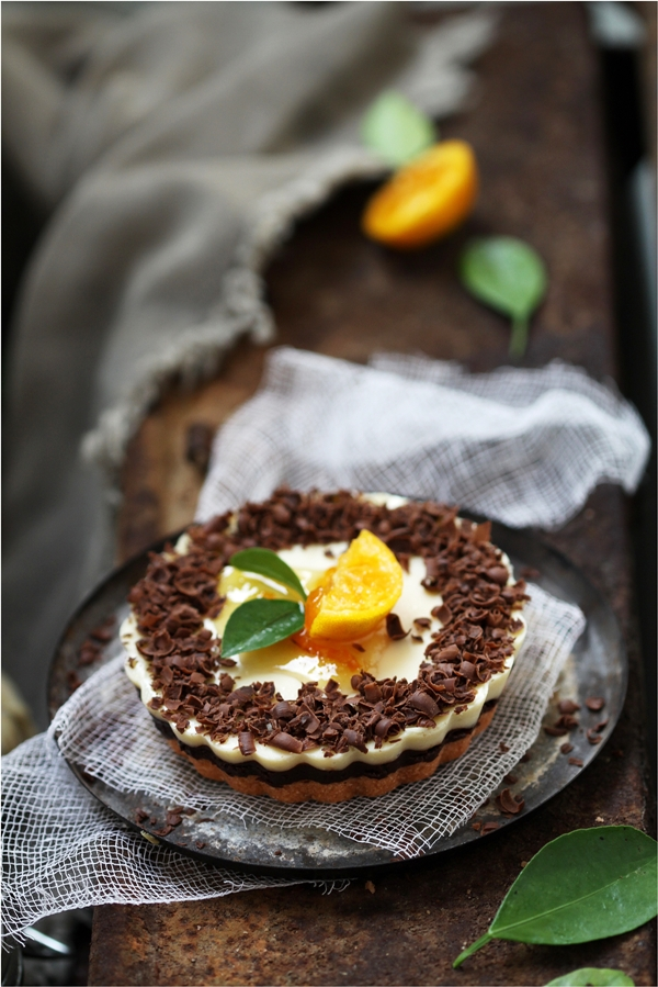 Dark Chocolate Orange Yogurt Eggless Cheesecake