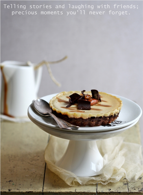 Deep Dark Salted Butter Caramel Eggless Yogurt Cheesecakes