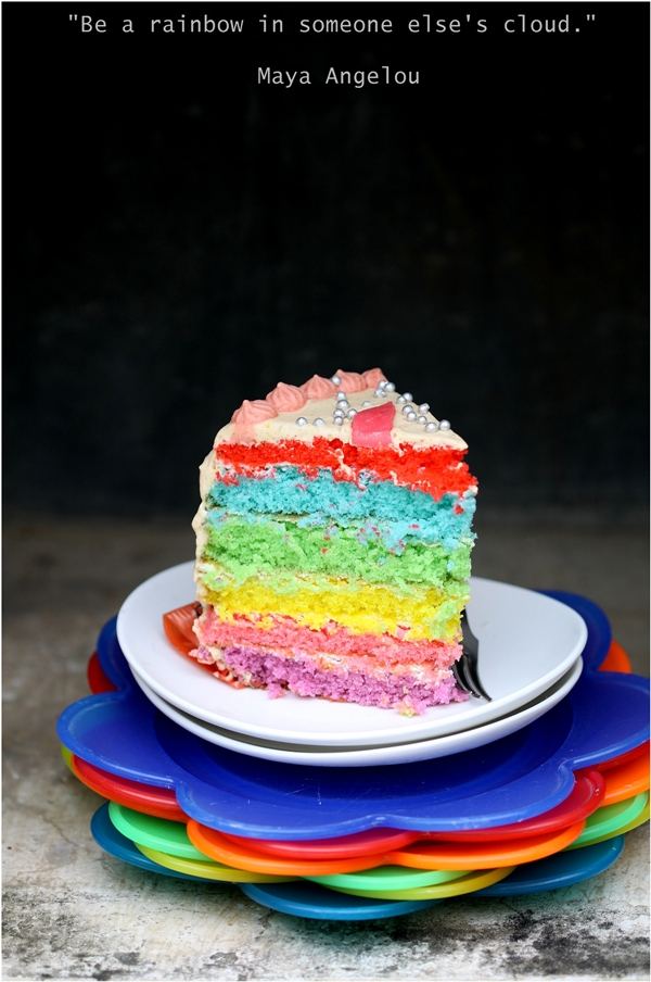 Rainbow Cake for Pinktober