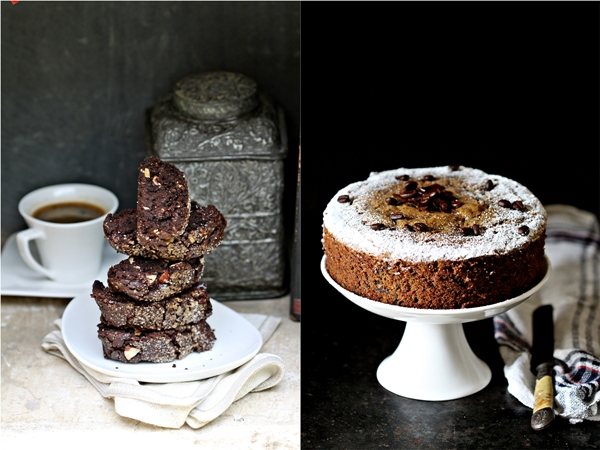 Whola wheat almond Biscotti & Whole Wheat Coffee & Dark Chocolate Pound Cake