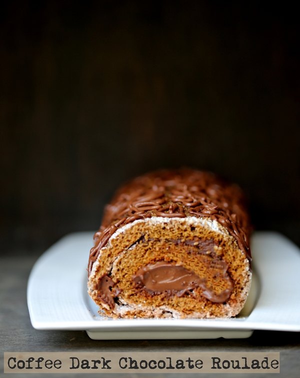 Coffee Dark Chocolate Roulade