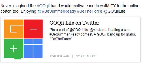 GOQii twitter contest @vindee