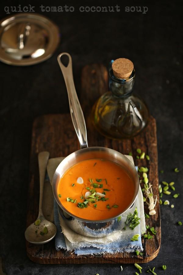 Quick tomato coconut soup 800