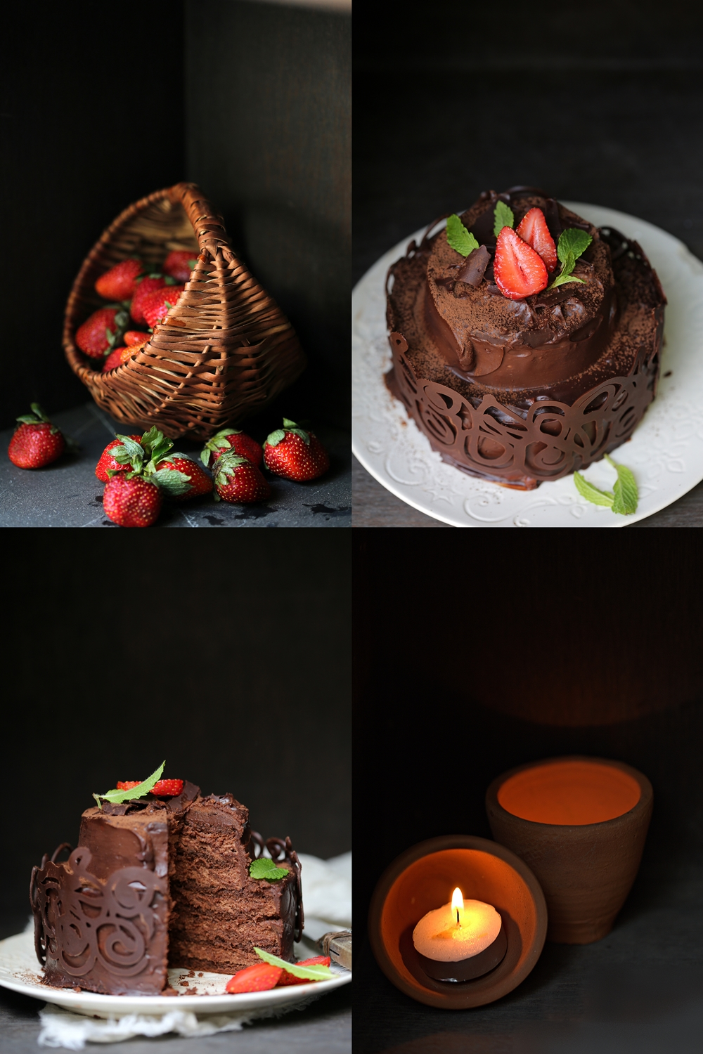 Flourless GF Mini Dark Chocolate Layered Cake