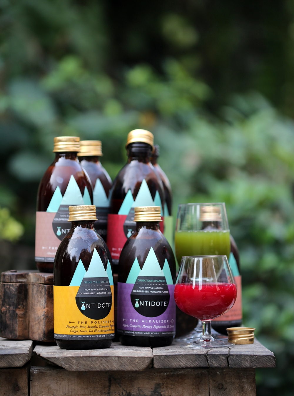 Antidote, coldpressed organic juice