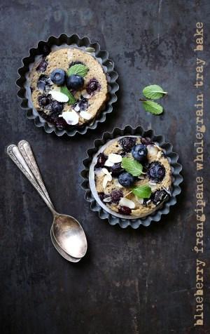 Blueberry Frangipane Wholegrain Tray Bake