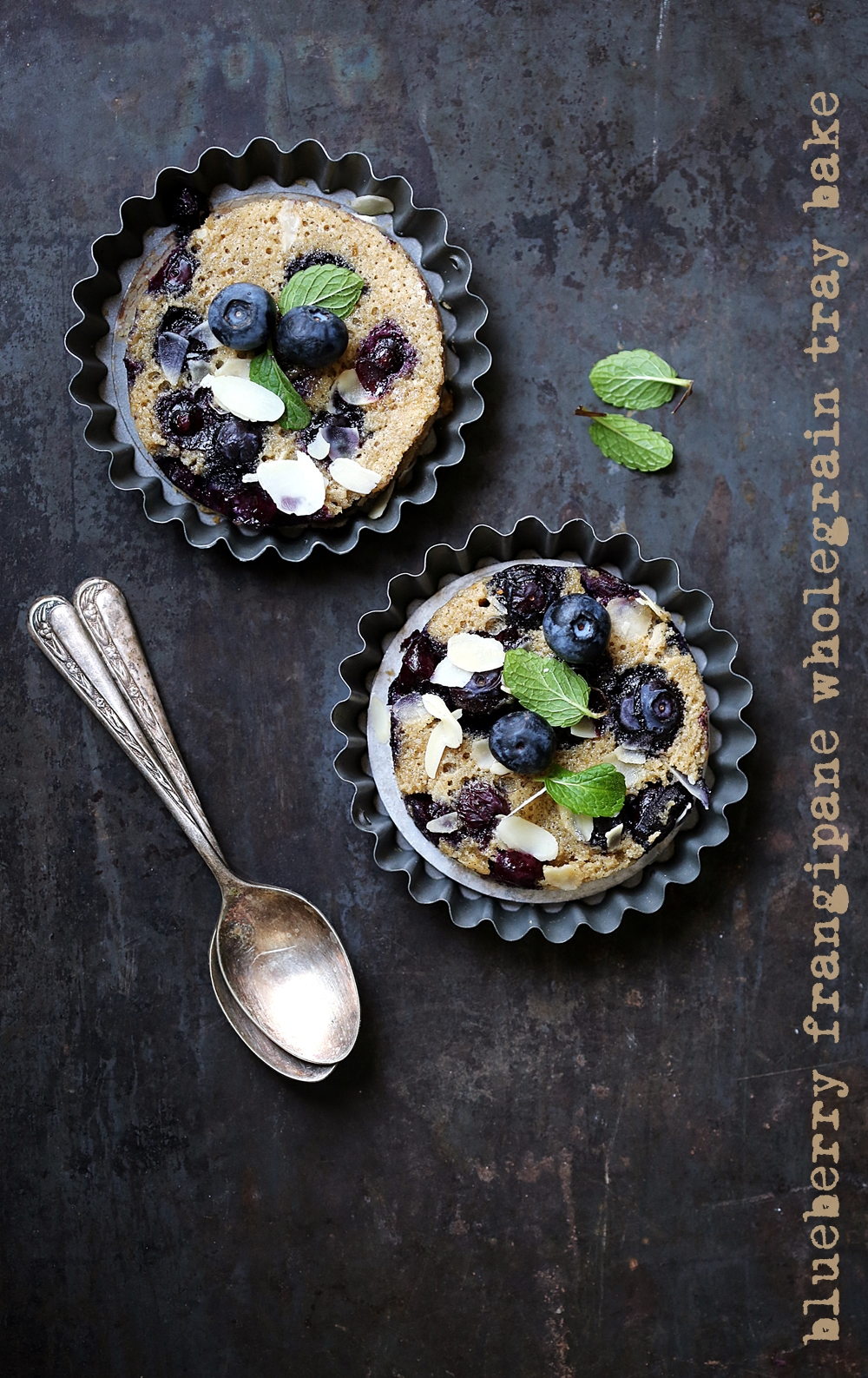 Blueberry Frangipane Wholegrain Tray Bake