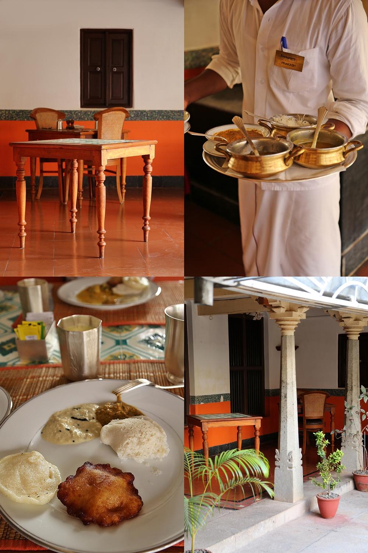 Breakfast, Chidambaram Vilas, Karaikudi, Chettinad, South India