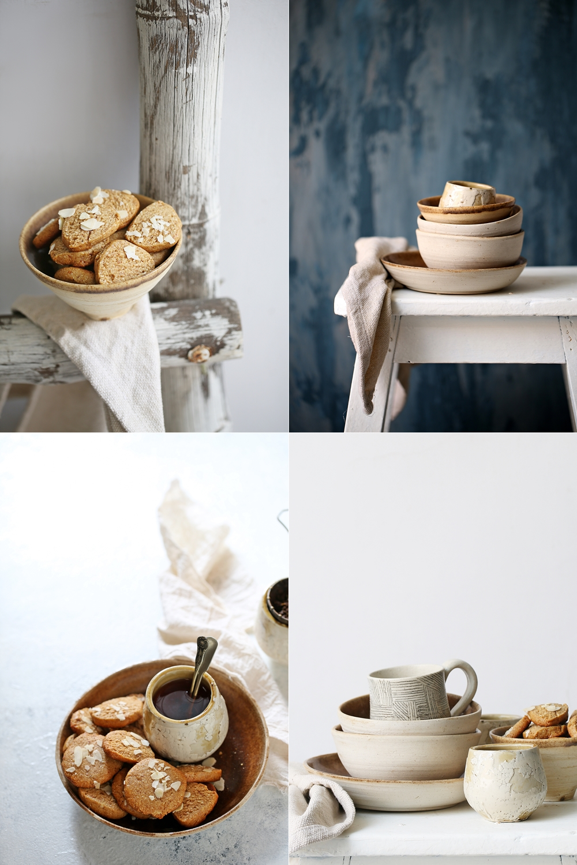 Eggless Wholegrain Almond Jaggery Oat Cookies