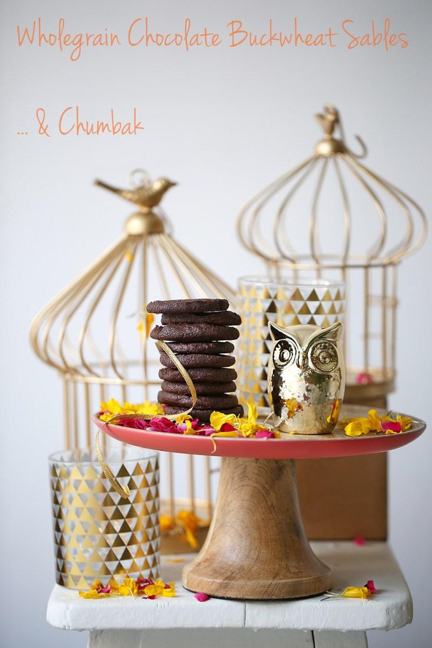 Wholegrain Chocolate Buckwheat Sables & Chumbak