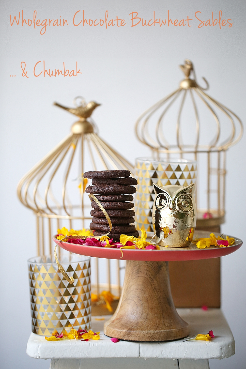 Wholegrain Chocolate Buckwheat Sables & Chumbak
