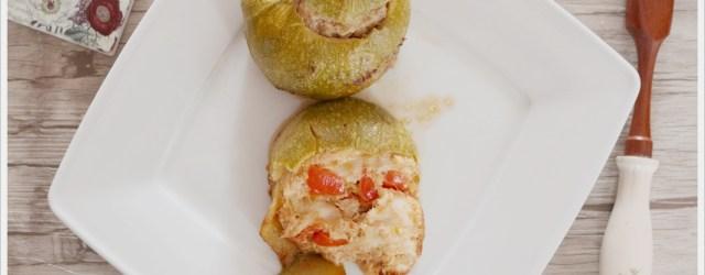 ricetta zucchina tonda ripiena al tonno