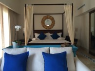 Bed and seating area