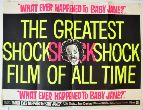 What ever happened to baby jane 1962 original quad what ever happened
