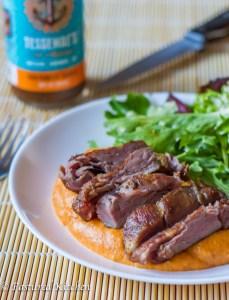 Sous Vide Beef Filet Tail and Sweet Potato Mash