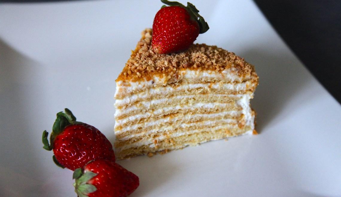 Medovik Tort: 15-Layer Russian Honey Cake