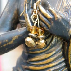 Simple Gold Toned Earrings